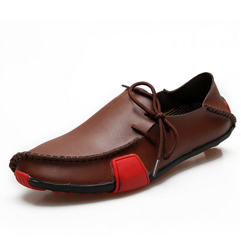 2015 new fashion shoes casual leather driving flats
