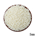 5MM ABS Ivory Imitation Pearl Round Hole Beads 1000pcs lot Wholesale Plastic Ball European Spacer Beads