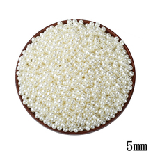Buy 1000pcs/lot 5MM ABS Ivory Imitation Pearl Beads Wholesale Round Plastic Ball European Spacer Hole Beads DIY Jewelry Making for $1.89 in AliExpress store