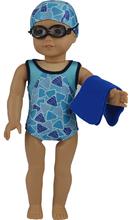"Swimsuit Swimwear Bikini Set 4PC Doll Clothes For 18"" American Girl Handmade(China (Mainland))"