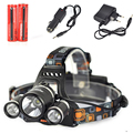 Boruit RJ 3001 8000 Lumen 3T6Headlamp Outdoor USB Head Lamp HeadLight Rechargeable 2 18650 Battery
