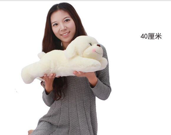 new creative cute plush lying dog toy lovely sweet shy dog doll gift about 40cm(China (Mainland))