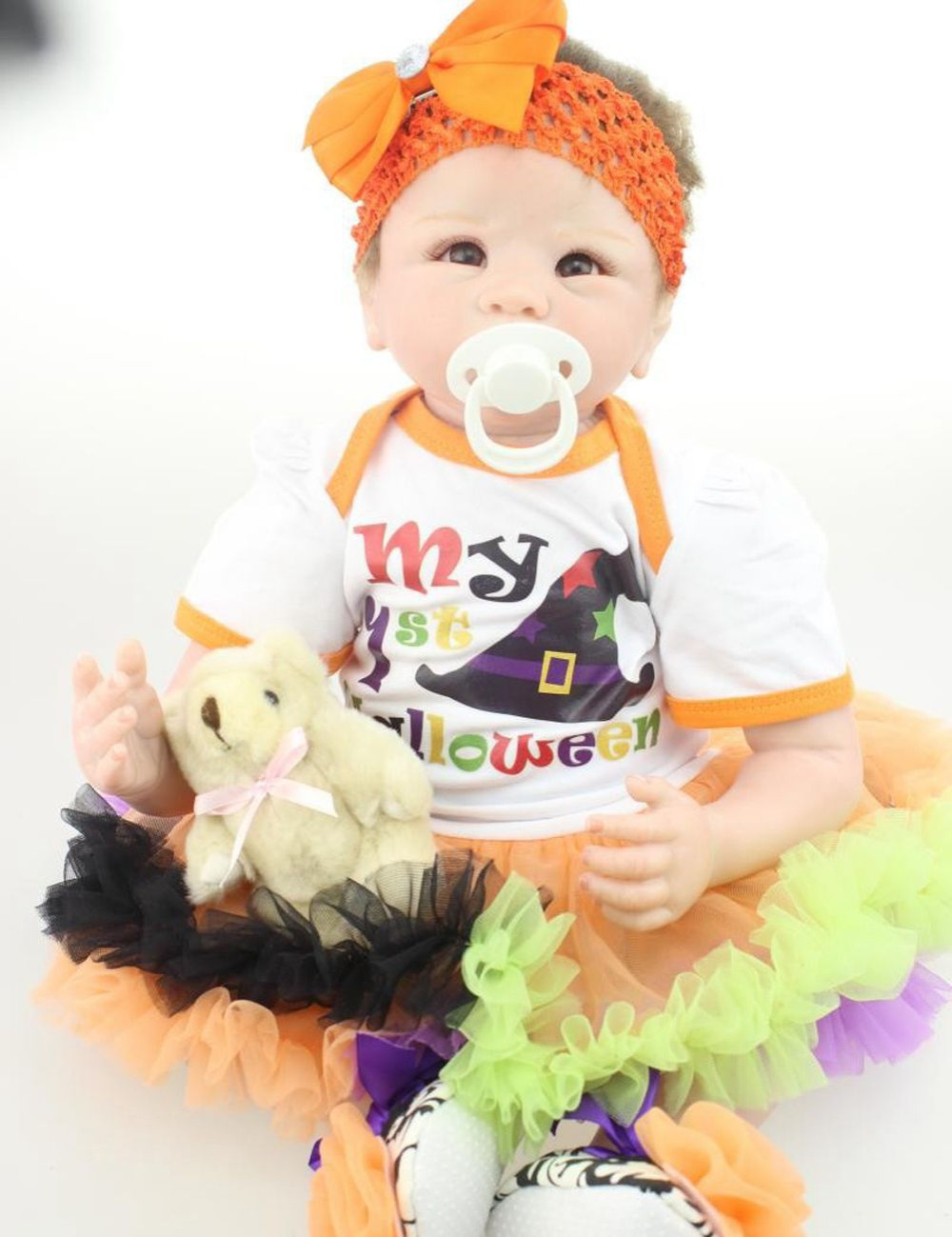 22inch Silicone Reborn Baby Lifelike Newborn Baby Doll Kits for Kids Playhouse Soft Stuffed Toys Gift<br><br>Aliexpress