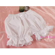 Girls Sweet Cute Black/White Ruffle Lace Safety Short Pants Lolita Bloomers Pumpkin Shorts(China (Mainland))
