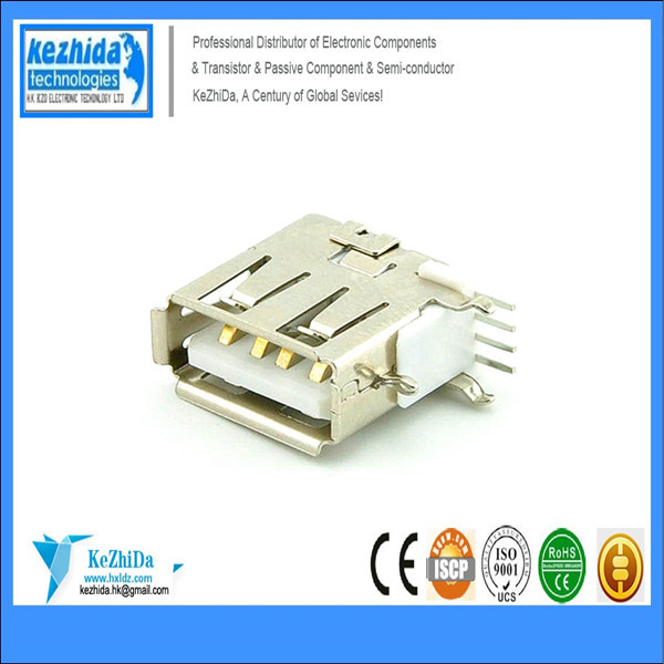 100pcs X MICRO USB 2.0 FAMALE SCOKET A TYPE 90 Degree MINI USB JACK CONNECTOR(China (Mainland))