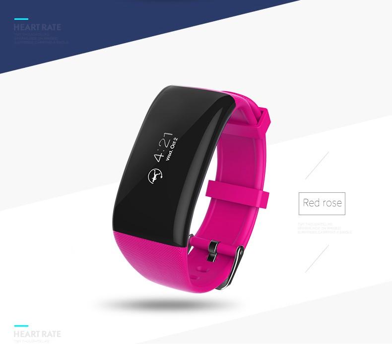 ถูก X16ค่าใช้จ่ายสร้อยข้อมือสมาร์ทIP67กันน้ำกีฬาPedometerสายรัดข้อมือหัวใจRate MonitorออกกำลังกายนาฬิกาสำหรับAndroid iOS PK F Itbit