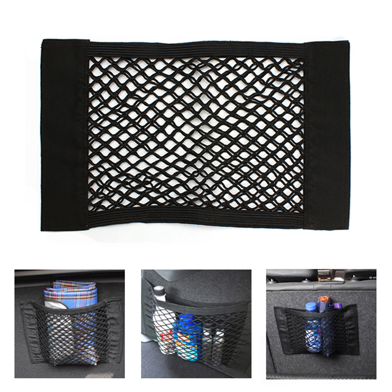 hot car bag luggage holder universal car net seat storage mesh organizer pocket sticker trunk. Black Bedroom Furniture Sets. Home Design Ideas