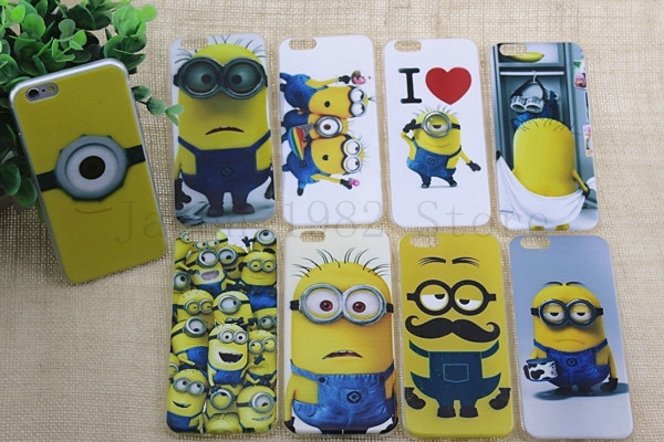 Luxury Popular Cute Despicable Me Soft Cover Case for iPhone 6 4.7(China (Mainland))