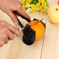 1Pc Black Potato Food Tomato Onion Lemon Vegetable Fruit Slicer Egg Peel Cutter Holder