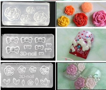 New Hot selling 30pcs Acrylic 3D Nail Art Molds Sticker For Nail Art Decoration DIY SET Wholesale
