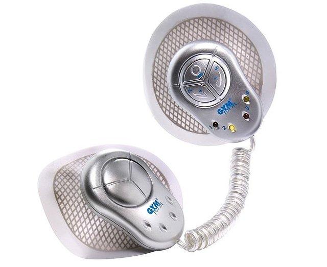 Double Head Design Gymform Duo Digital Massager Massage Device with 4-LED Flash