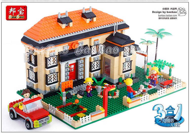 building block set compatible lego new city 3 1 Rhine small 3D Construction Brick Educational Hobbies Toys Kids