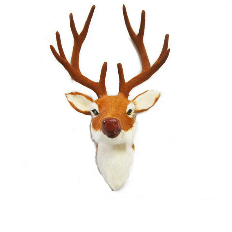New Christmas decorations antlers Creative 3D craft animal head wall hangers deer head new year decoration for home kids gifts(China (Mainland))