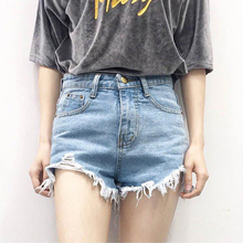 Buy 2017 Short Jeans Fashion Ribbons Tassel Women Shorts Loose Cotton Casual Female Slim High Waist Denim Shorts Summer Style for $11.12 in AliExpress store