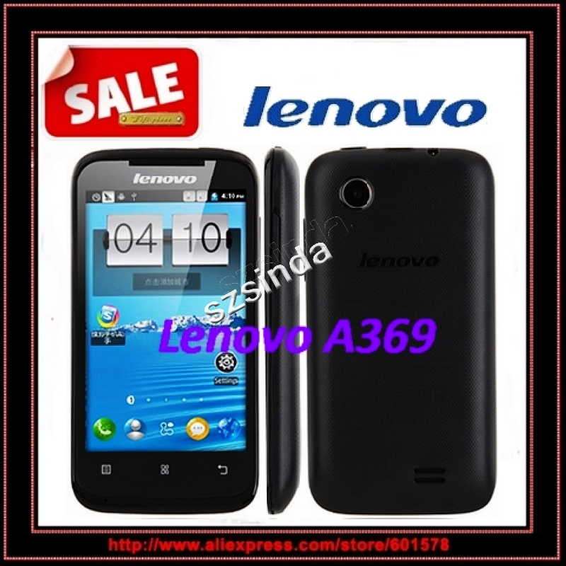 in stock Original Lenovo A369 4.0 Inch MTK6572 Dual Core Android 2.3 multi-language Wifi unlocked WCDMA 3G Mobile phone(Hong Kong)