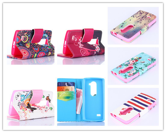 Hot Stand Card Holder Wallet Leather Book Case For LG Leon C40 4G LTE H340N H324 Free 1 Stylus(China (Mainland))