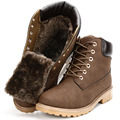Hellozebra New Big Size PU Leather Men Boots Autumn And Winter Man Shoes Ankle Boot Snow