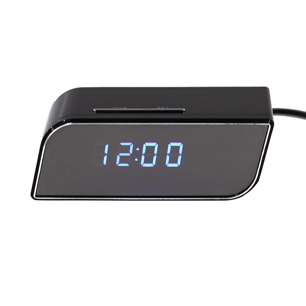 Wireless Wifi IP 720P HD Mirror Alarm Clock Night Version Remote Control Camera IR Security Network Web Cam DVR Clock(China (Mainland))