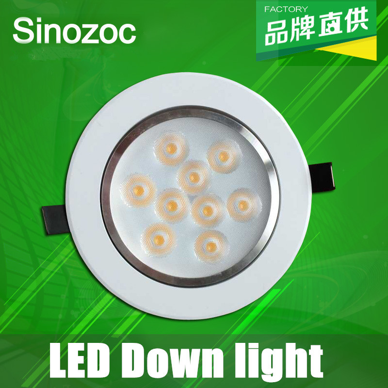 Freeshipping 3W 5W 7W 9W 12W LED downlights 10pcs/lot Recessed LED Ceiling Spot Light Lamp White/warm white led down lights lamp(China (Mainland))