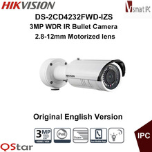 Buy Hikvision Original English Version DS-2CD4232FWD-IZS 3MP WDR IR IP Camera Support Motorized VF lens,120dB POE CCTV Camera for $603.00 in AliExpress store
