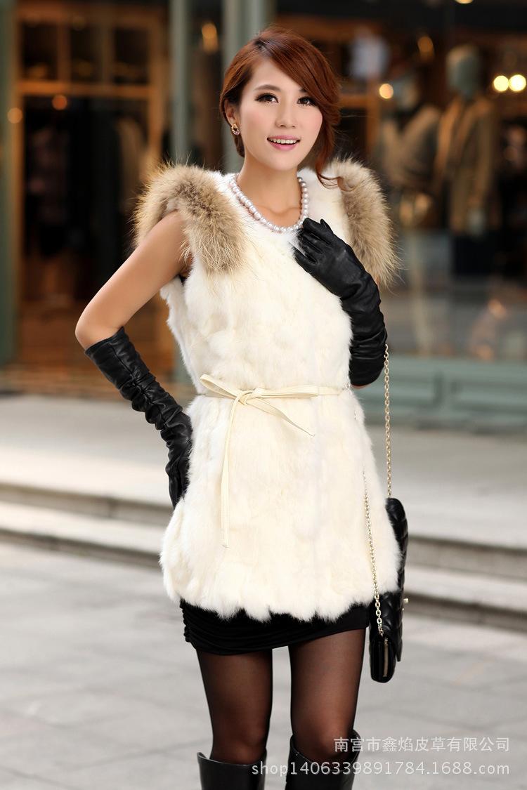 2016 new winter rabbit fur vest fur coat long section of Ms. Slim ladies fur vest Children<br><br>Aliexpress