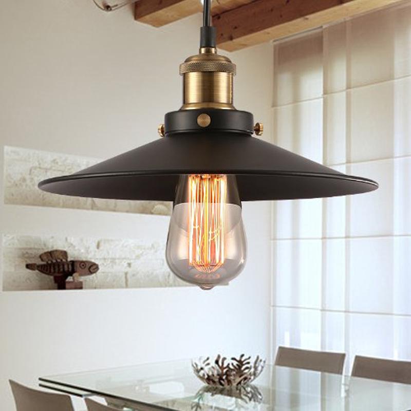 Free shipping Retro Countryside vintage pendant lights Painted Iron Pendant lamp  e27 Edison Bulb vintage pendant lighting