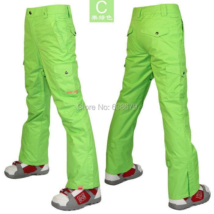 2014 gsou snow womens green ski pants pink snowboarding skiing pants women winter sports pants snow pants waterproof 10K(China (Mainland))