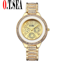 Buy Luxury O.T.SEA Brand Gold Plated Watches Women Ladies Crystal Dress Quartz Wristwatches Relogios Feminino 2100 for $3.99 in AliExpress store