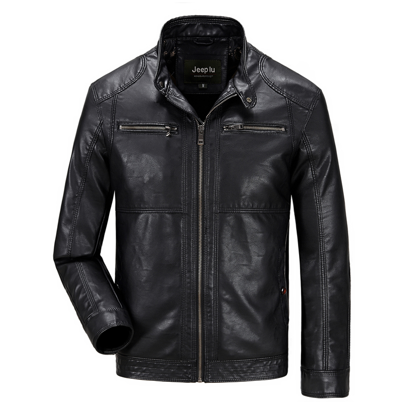 Autumn Winter 2015 Mens Leather Jackets and Coats Zipper Slim Fit Faux Leather Motorcycle Jackets Men jaqueta de couro masculinaОдежда и ак�е��уары<br><br><br>Aliexpress