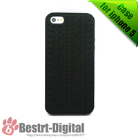 1Pcs Only,  Soft Silicone Tire Track, Skin Cover Case for iphone 5/5S, Best sell for iphone 5S Case, New Look