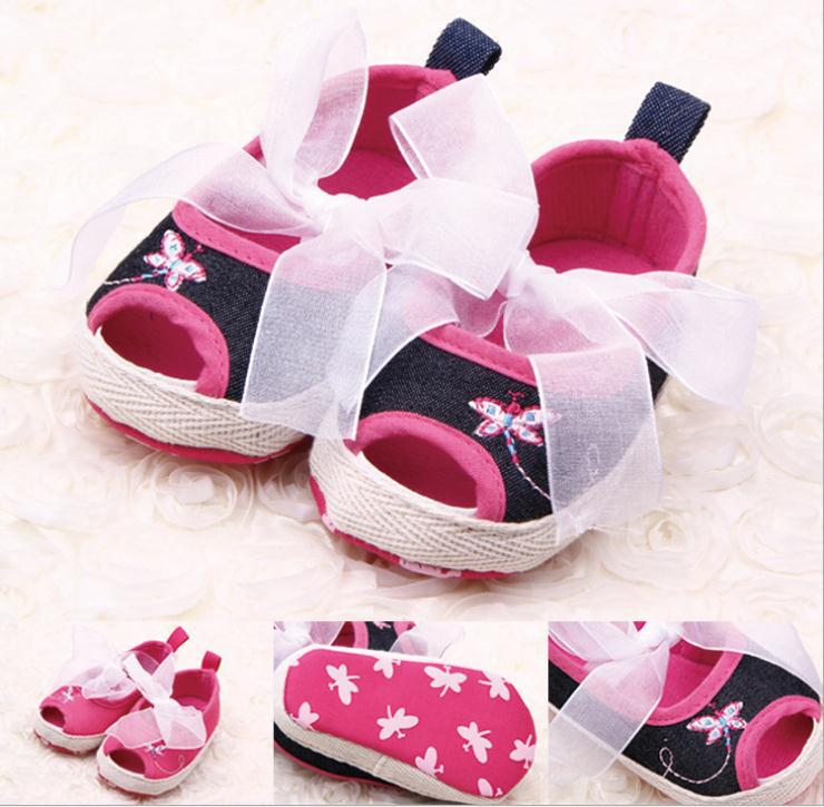 Free shipping 2015 new hot fashion show cute baby shoes Anti-slip soft bottom toddler shoes butterfly fish head calcados de(China (Mainland))