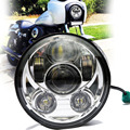 DOT SAE E9 approved 5 3 4 Inch 45W Daymaker Projector LED Headlight for Harley Davidson