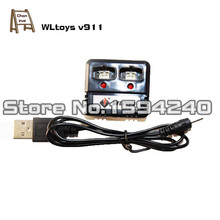 wholesale 10set/lot (New version) wltoys wl V911 rc helicopter parts USB cable lipo charger accessory