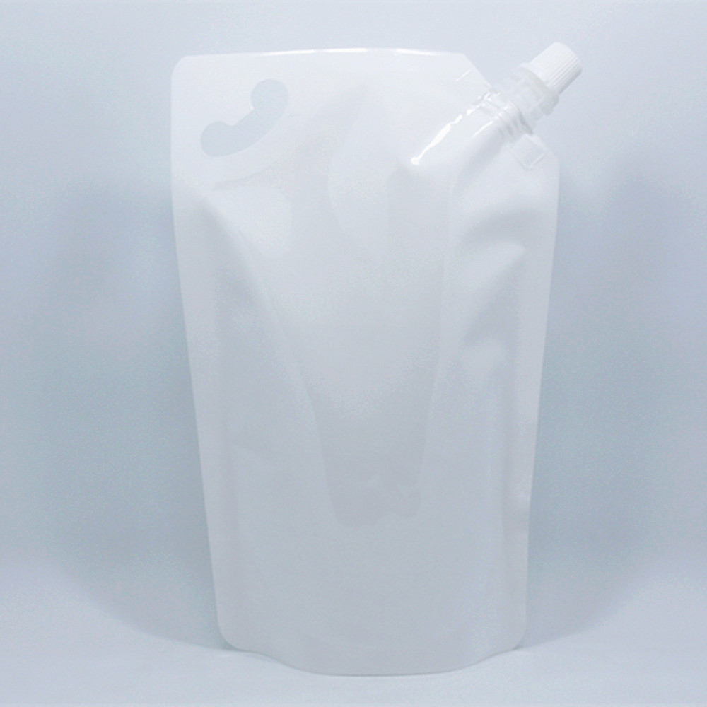 DHL 500Pcs/Lot Oil Doypack Breakfast Bag Party Pouch White Stand Up Spout Bags Juice Milk Drinking Jelly Vinegar Soy Sauce Wine(China (Mainland))
