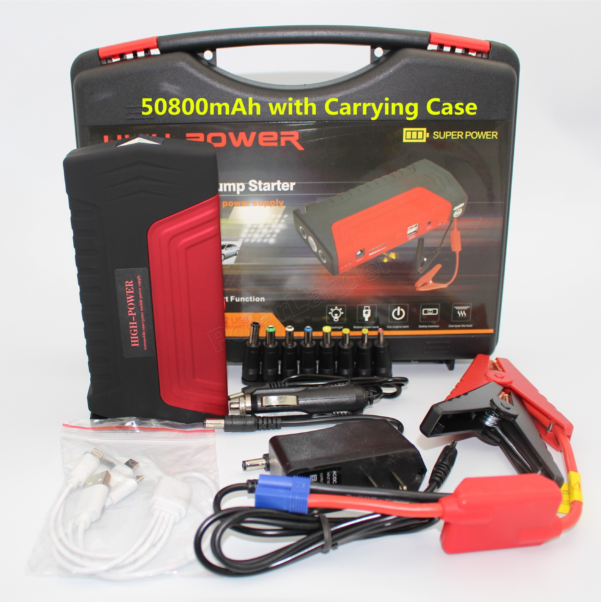 factory price sale a set 50800mah Portable Car Jump Starter Power Bank Emergency Car Jump Auto Battery Booster(China (Mainland))