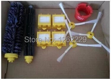 For iRobot Roomba 700 760 770 780 790 Vacuum Cleaner Parts 4 Filters,3 Side Brushes,1 Beater Brush& Bristle Brush 1Cleaning Tool(China (Mainland))