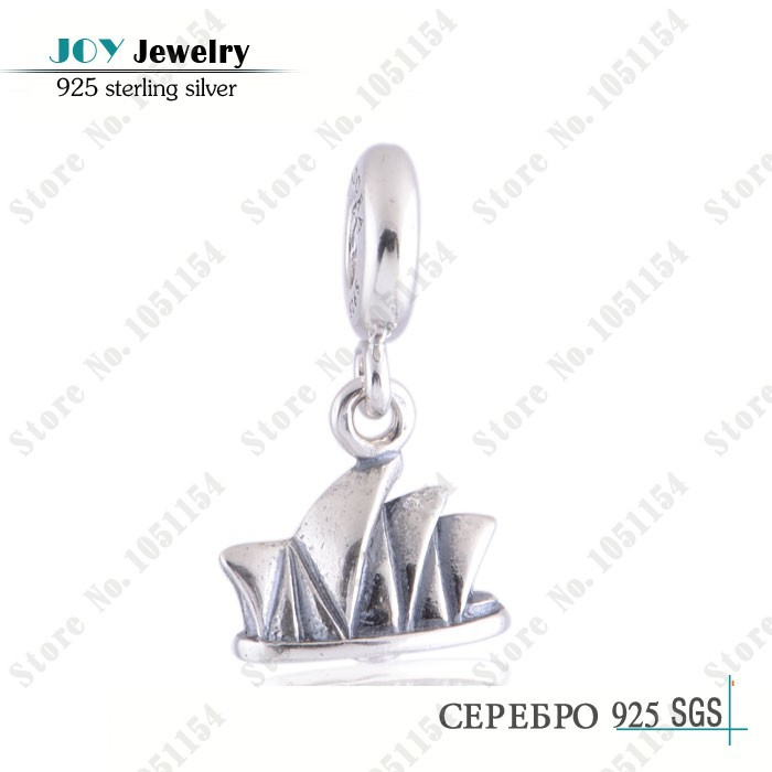 Authentic 925 Sterling Silver Sydney Opera House Dangle Pendant Charm/DIY Craft Beads Jewelry Accessories/Fits European Bracelet<br><br>Aliexpress