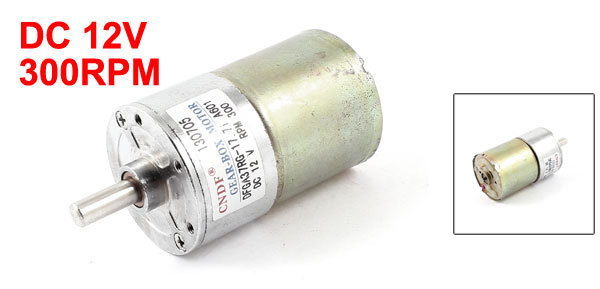 DC 12V 300RPM Speed 6mm Shaft Magnetic Electric Gear Box Motor Spare Parts(China (Mainland))