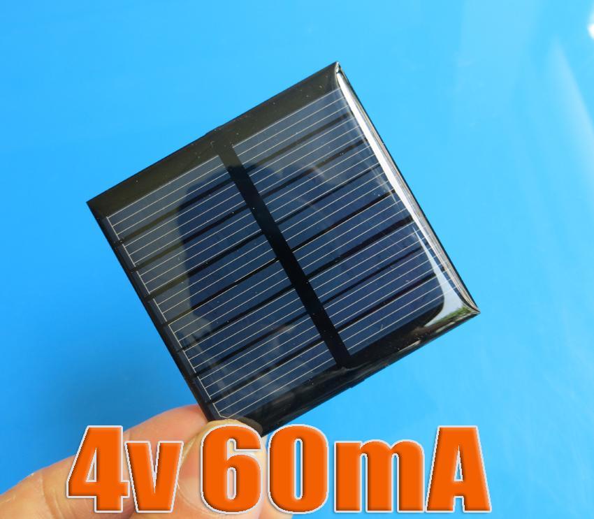 Epoxy solar panel 4V 60mA mini solar panels solar panels DIY Epoxy(China (Mainland))