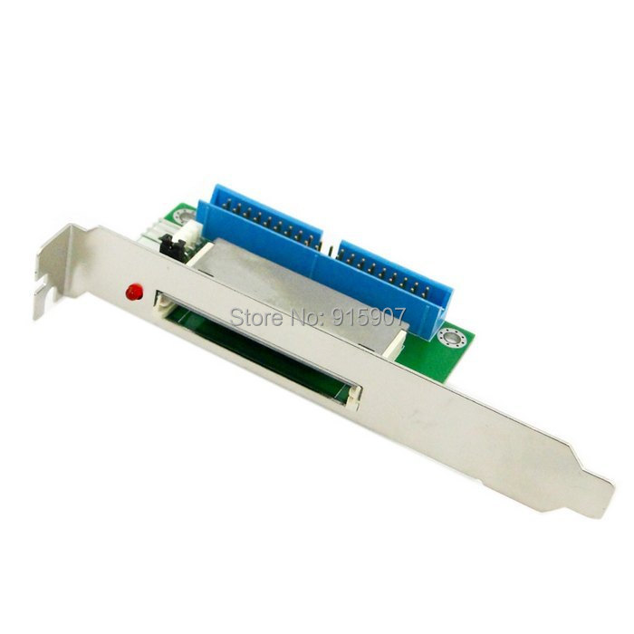 CY 40Pin ATA IDE to Compact Flash CF Adapter Converter with PCI Bracket Back Panel(China (Mainland))