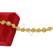 10mm Womens Girls 24K Yellow Silver Gold Filled Link Heart Charm Chain Flowers Bracelets Free Ship(China (Mainland))