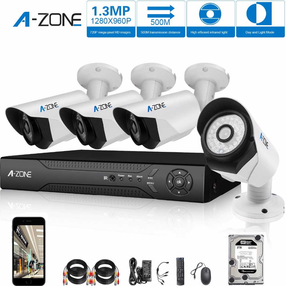 A-ZONE Unique 1.30Megapixel Outdoor AHD CCTV Camera System(China (Mainland))