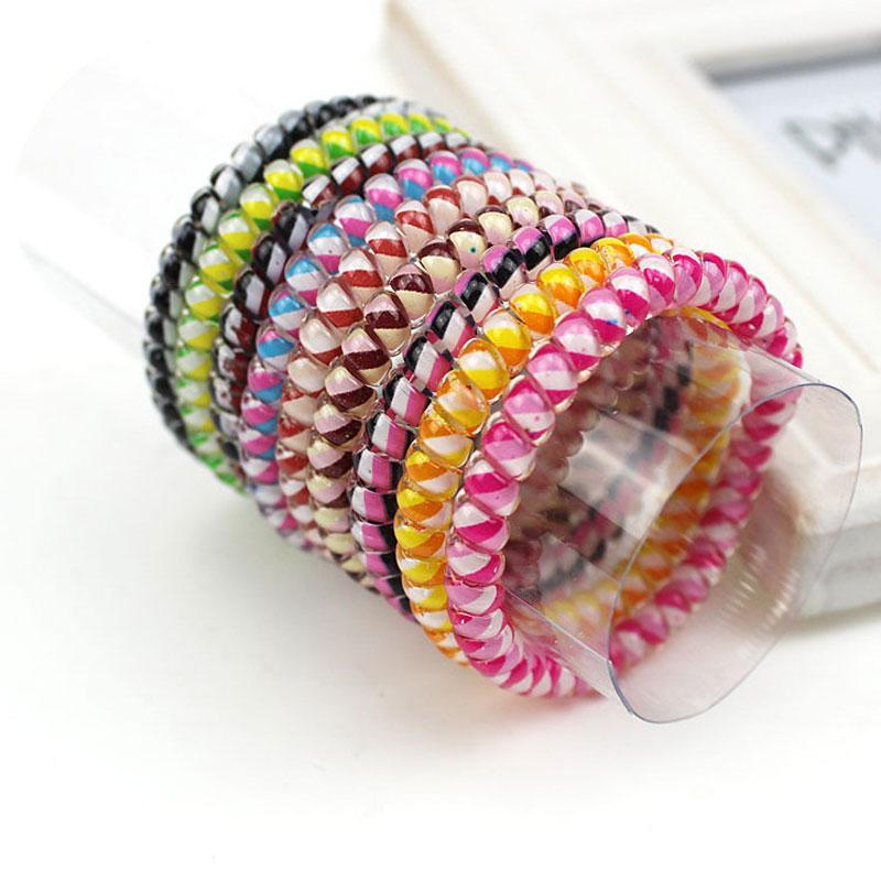 5pcs Hair Accessories Braiding Tool Elastic Hairbands For Women Scrunchy Girls Telephone Wire Hair Braider Hair Ornaments(China (Mainland))