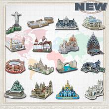 Продвижение новые известный архитектура модель 3D головоломки для взрослых бумаги развивающие игрушки для детей обучение образование(China (Mainland))