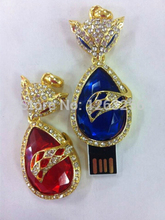 Free Shipping 32GB 16GB 8GB 4GB Crown Heart USB 2 0 Flash Pen Drive 2GB Jewelry