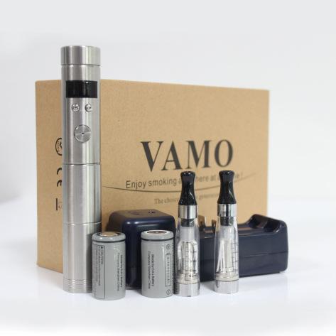 Stainless Steel Vamo V5 Electronic E Cigarette kits Variable Voltage 18350 18650 Battery E cigarettes Mechanical