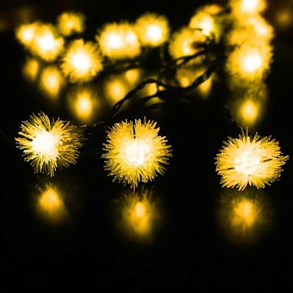 Short Led String Lights : Aliexpress.com : Buy 3Sets 5M 20LED available Solar Powered Chuzzle Fariy Snowball String Light ...