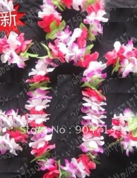 Hawaii leis 6pcs set/Wreath sets/Welcome etiquette garland/wedding party dance performing arts performance bar bracelet Wreath