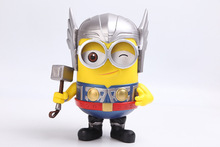 Despicable Me Cute Minions Banana Thor Style 20CM PVC Action Figure Doll Toys Kids Gift Decoration