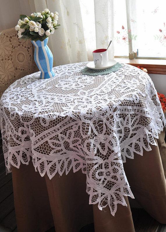 FREE SHIPPING! Battenburg Lace Tablecloth,home decor, wedding decoration Drop Shipping(China (Mainland))